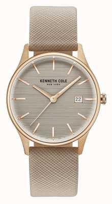 Kenneth Cole Womans bruine wijzerplaat bruine lederen riem KC15109003