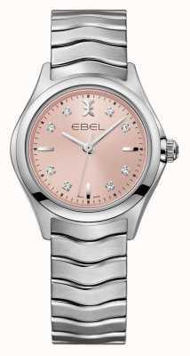 EBEL Wave roze wijzerplaat roestvrij stalen horloge 1216217