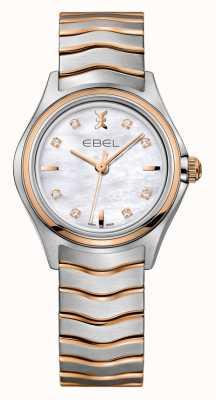 EBEL Wave dames diamant tweekleurige rosé gouden horloge 1216324