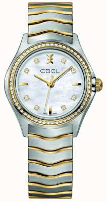 EBEL Wave dames tweekleurig diamanten horloge 1216351