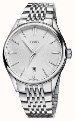 Oris Artelier datum automatische roestvrijstalen zilveren wijzerplaat 01 733 7721 4051-07 8 21 79