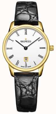 Dreyfuss Dames lederen horlogeband in leer, 1980 DLS00136/01