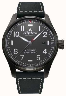 Alpina Starter piloot automatische zwarte riem heren AL-525G4TS6