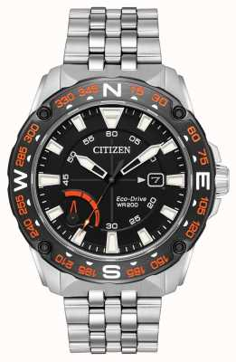 Citizen Mens eco-drive roestvrij stalen armband power reserve AW7048-51E