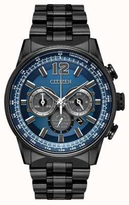 Citizen Mens eco-drive nighthawk chronograaf zwart ip CA4375-59L