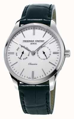 Frederique Constant Heren klassiekers zwarte lederen band / groene nato band FC-259ST5B6
