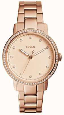 Fossil Womens neely roos goud horloge ES4288