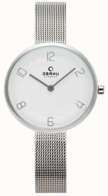 Obaku Dames vand staal mesh horloge V195LXCIMC
