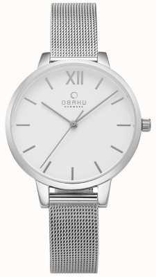 Obaku Vrouwen roestvrij staal mesh horloge V209LXCIMC