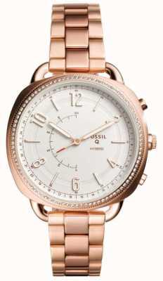 Fossil Q medeplichtige hybride smartwatch rose goudkleur FTW1208
