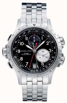 Hamilton Aviation eto chrono quartz roestvrij staal H77612133