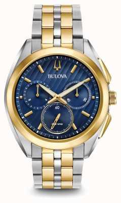 Bulova Herenkromme chronograaf twee toon metaal armband 98A159
