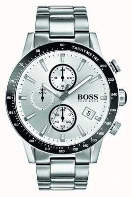 Boss Mens rafale chronograaf witte wijzerplaat 1513511
