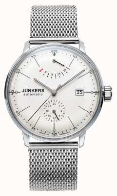Junkers Mens bauhaus auto stalen gaas horloge 6060M-5