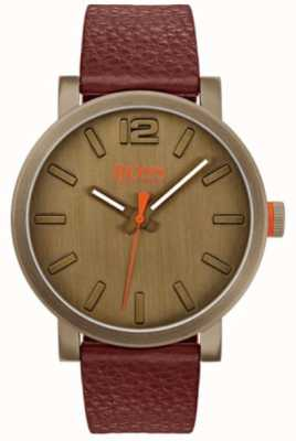 Hugo Boss Orange Mens bilbao horloge in bruin 1550036
