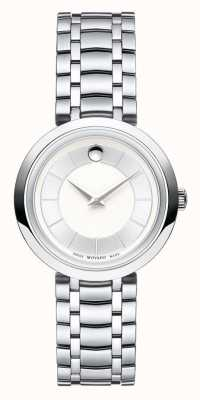Movado Womans 1881 kwarts zilveren toon armband 0607098