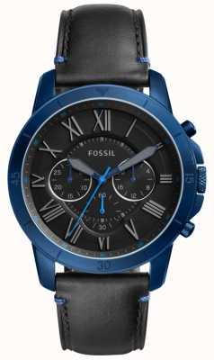 Fossil Mens geeft chronograaf zwart en blauw FS5342