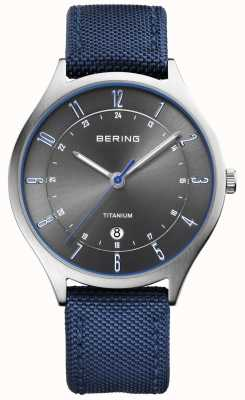 Bering Heren ultra licht titanium nylon blauw 11739-873