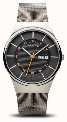 Bering Heren klassieke multifunctionele zilveren mesh armband 12939-077
