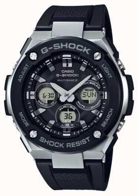 Casio g-shock g stalen midsize alarm chrono zwart GST-W300-1AER