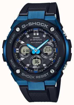 Casio Mens g-shock g-staal zwaar horloge blauw GST-W300G-1A2ER