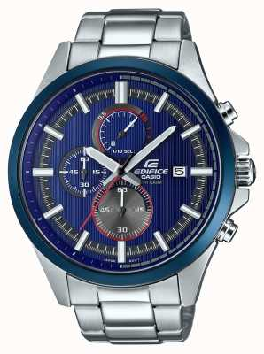 Casio Herenhorloge racing blauw chronograafhorloge EFV-520RR-2AVUEF