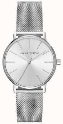 Armani Exchange Womans roestvrijstalen mesh armband AX5535