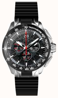 Aviator Mannen me-35 chronograaf zwarte rubberen band M.2.19.5.134.6