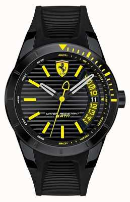 Scuderia Ferrari Heren Redrev Black Silicone Band Watch 0830426