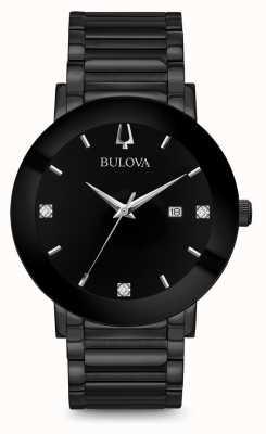 Bulova Heren moderne diamant horloge zwart 98D144
