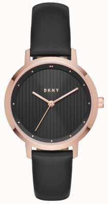 DKNY Womans modernistische zwarte roosgoud NY2641