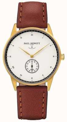 Paul Hewitt Unisex handtekening bruine lederen band PH-M1-G-W-1M