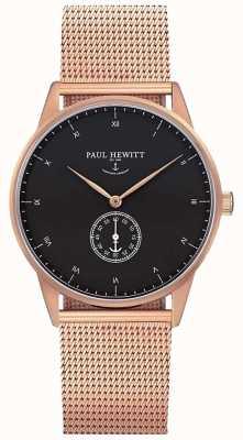 Paul Hewitt Uniek horloge met handtekening | roestvrij stalen gaasband | PH-M1-R-B-4M