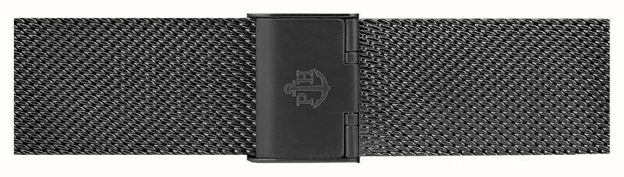Paul Hewitt Zwarte roestvrijstalen mesh armband 176 mm PH-M1-G-5S
