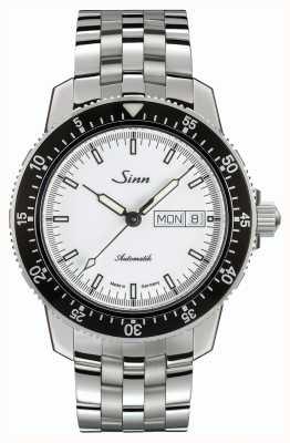 Sinn 104 st. Iw klassieke piloot horloge roestvrijstalen fijne band 104.012 BRACELET
