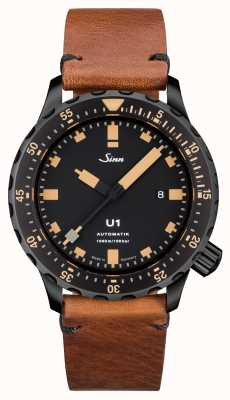 Sinn U1 se u-boot staal vintage bruin leer v-steek 1010.023