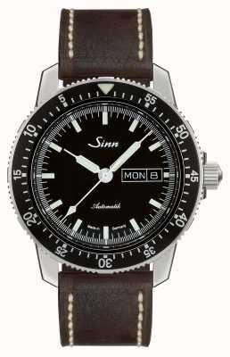 Sinn 104 st i i klassieke piloot horloge donkerbruin vintage leer 104.010-BL50202002007125401A
