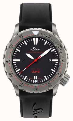 Sinn U212 ezm 16 missie timer u-boot staal zwarte siliconenband 212.040