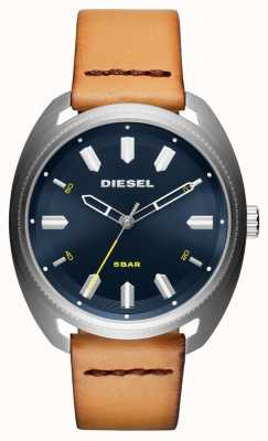 Diesel Heren fastbak bruin lederen horloge DZ1834