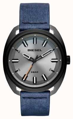 Diesel Heren fastbak denim-look leren riem DZ1838