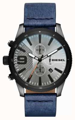 Diesel Mens rasp chrono denim-look horloge DZ4456