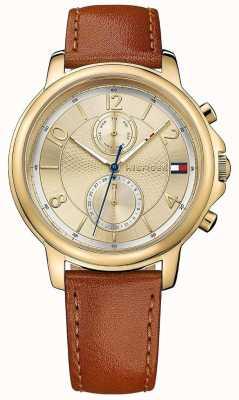 Tommy Hilfiger Vrouwen claudia biscotto lederen horloge 1781818