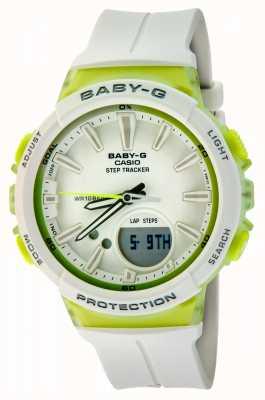 Casio Womens baby-g-tracker groen / wit horloge BGS-100-7A2ER