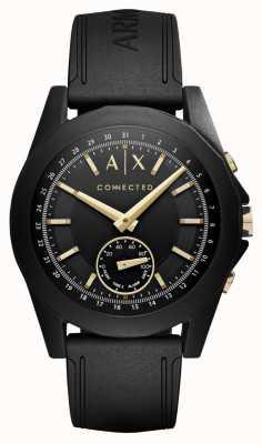 Armani Exchange Mens gekoppelde hybride smartwatch in zwart AXT1004