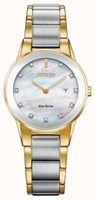 Citizen Dames axioma diamant date two tone GA1054-50D