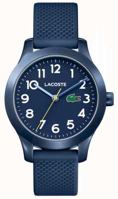 Lacoste 12.12 kinderhorloge marineblauwe rubberen band 2030002