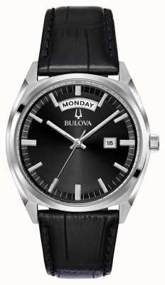 Bulova Herenhorloge in zwart leer 96C128