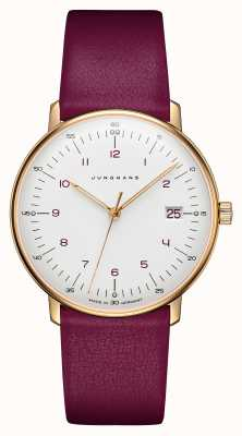 Junghans Max bill dames quartz | roze kalfsleren band 047/7850.00
