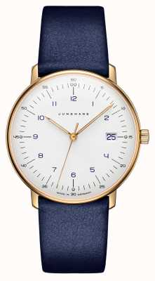 Junghans Max bill dames quartz | blauwe lederen band | 047/7851.00