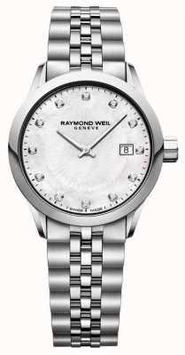 Raymond Weil Dames freelancer moeder van parelwiel 5629-ST-97081